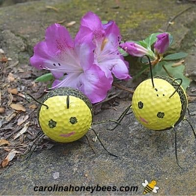How to Make Golf Ball Bees