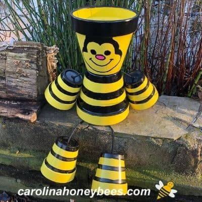 How to Make a Clay Pot Honey Bee