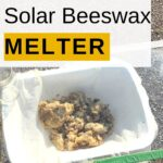 image of homemade solar beeswax melter