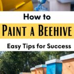 picture of colorful painted beehives, how to paint a beehive