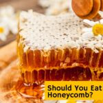 picture of honeycomb on a plate can you eat honeycomb