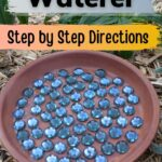Easy bee craft clay water dish bee waterer image.