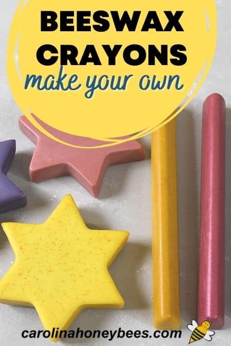 Shaped beeswax crayons make your own image.