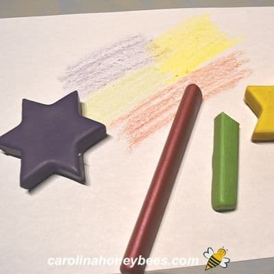 Coloring samples with beeswax crayons image.