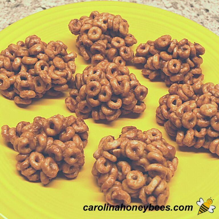 Honey Peanut Butter Cereal Snacks