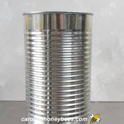 Tin can with label removed for crafting image.