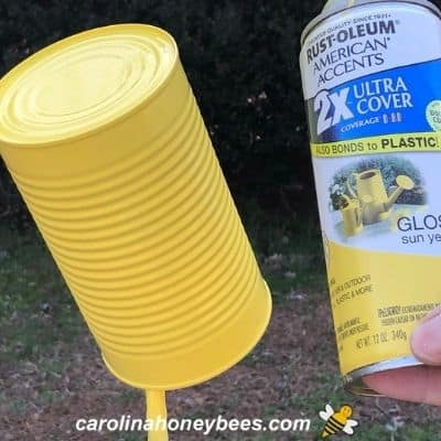 Painted yellow body color on can image.