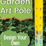 DIY bee garden art pole design your own image.