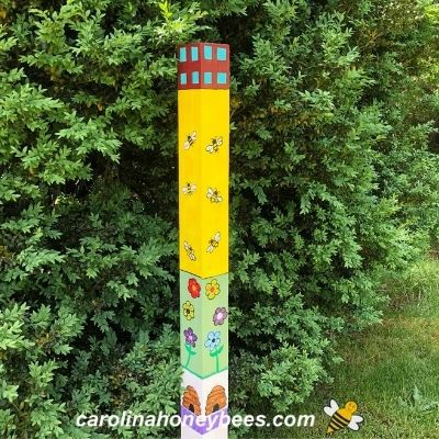 How to Make a Bee Garden Art Pole