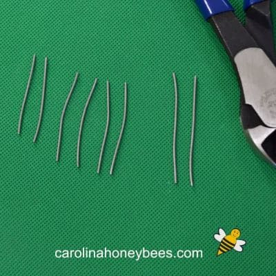 8 pieces of wire and wire cutters for insect parts image.