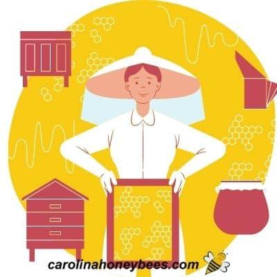 Lady beekeeper image.