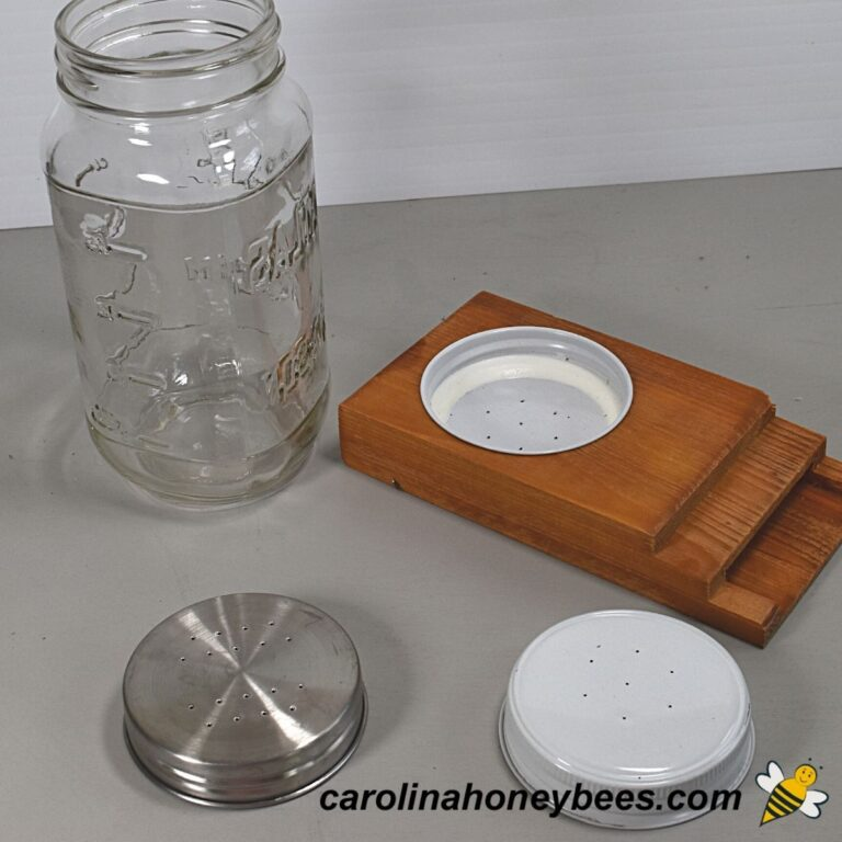 How to Make a Mason Jar Bee Feeder