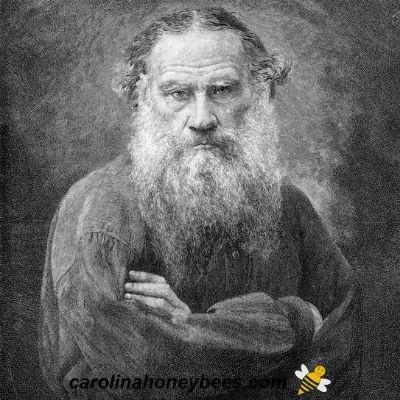 Leo tolstoy beekeeper portrait image.