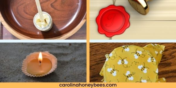 Several uses for beeswax furniture polish candles and sealing wax image.