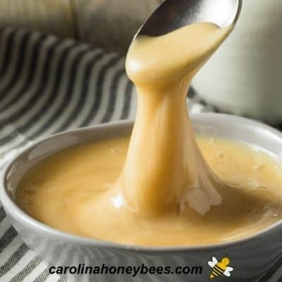 Whipped honey in a bowl image.