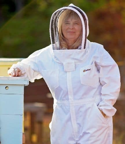 Beekeeper in White Suit