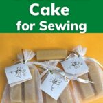 Bags of beeswax bars for gifting handmade beeswax cake for sewing image.