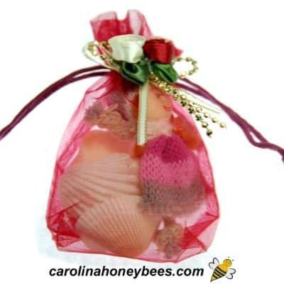 Small see thru organza gift bag image.