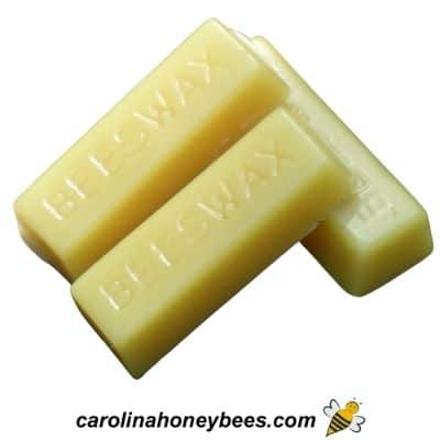 Single one ounce beeswax bars image.