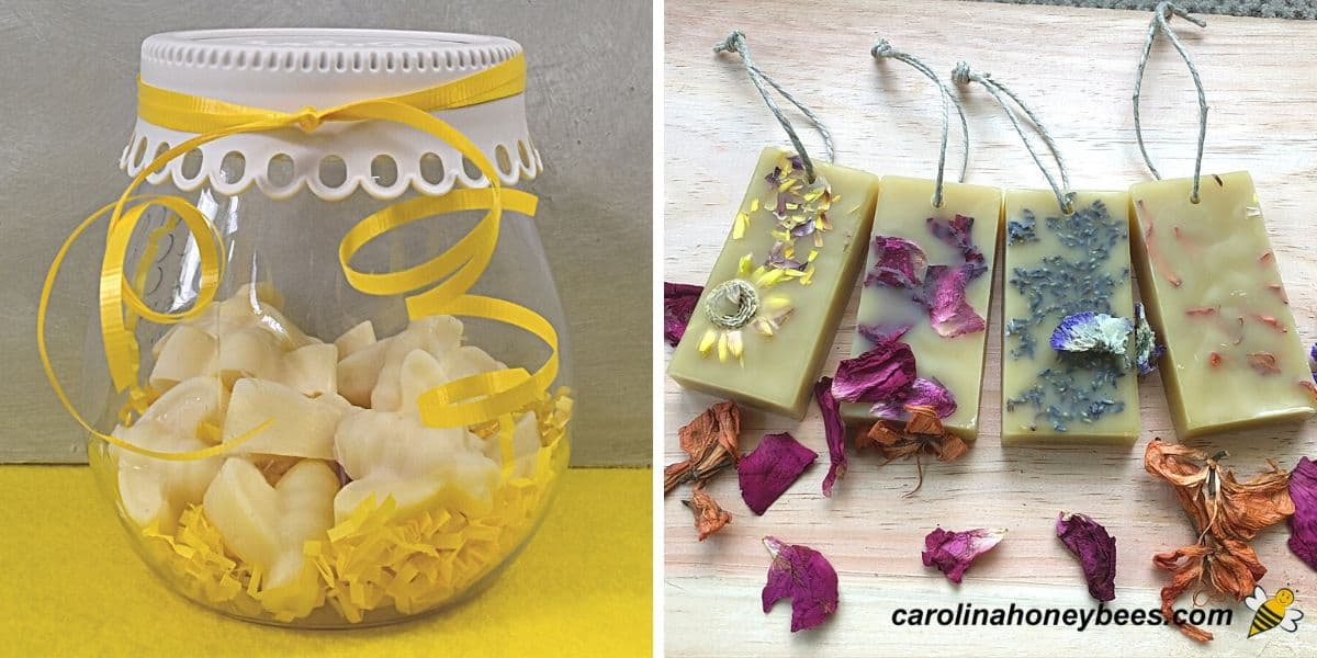 Beeswax gift idea air fresheners in bowl or bar image.