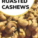 Honey roasted cashews recipe image.